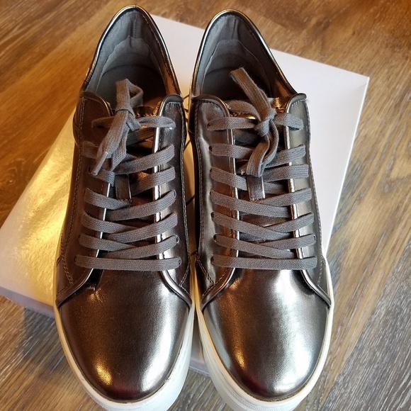 7b66d52c8d8 Steve Madden Kickstart Pewter Sneakers - NIB